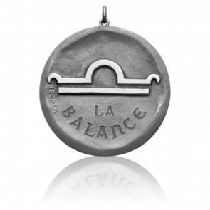 Médaille Signe de la Balance, Or blanc 18K - Becker