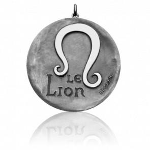 Médaille Signe du Lion, Or Blanc 18K - Becker
