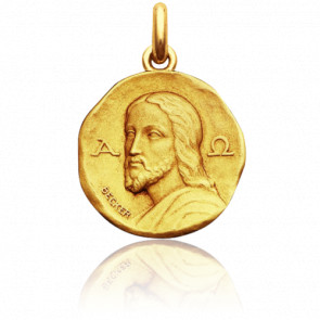 Médaille Christ Catacombes, Or jaune 18K - Becker