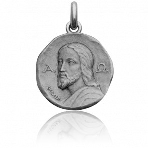 Médaille Christ Catacombes Or Blanc 18K
