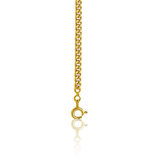 Chaîne maille gourmette, Or jaune 9 carats, 50 cm
