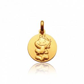 Médaille Rêveur, Or jaune 9 carats - La Fée Galipette