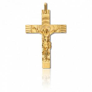 Croix Christ Solaire 22 x 33 mm Or Jaune 9K - Lucas Lucor