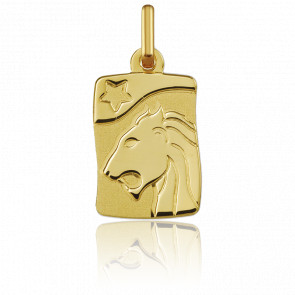 Pendentif zodiaque lion, Or jaune 18K - Argyor