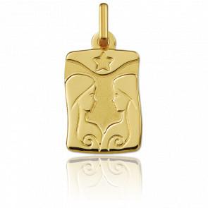 Pendentif zodiaque gémeaux, Or jaune 18K - Argyor