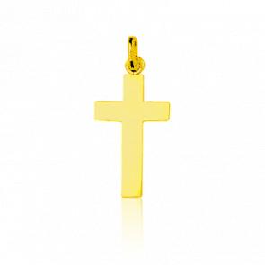 Croix classique, Or jaune 18 carats - Emanessence