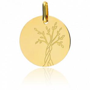 Médaille Arbre de Vie, Or jaune 18K - Lucas Lucor
