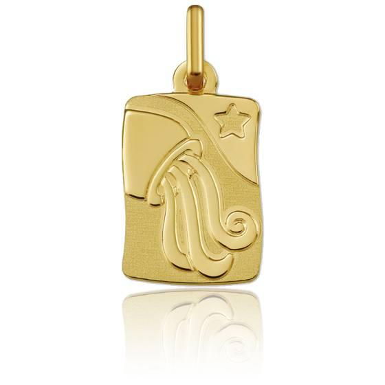 Pendentif zodiaque verseau, Or jaune 9K - Argyor