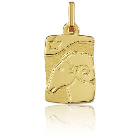 Pendentif zodiaque bélier, Or jaune 9K - Argyor