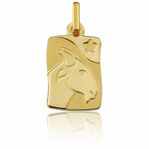Pendentif zodiaque capricorne, Or jaune 9K - Argyor