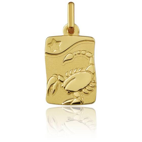 Pendentif zodiaque scorpion, Or jaune 9K - Argyor
