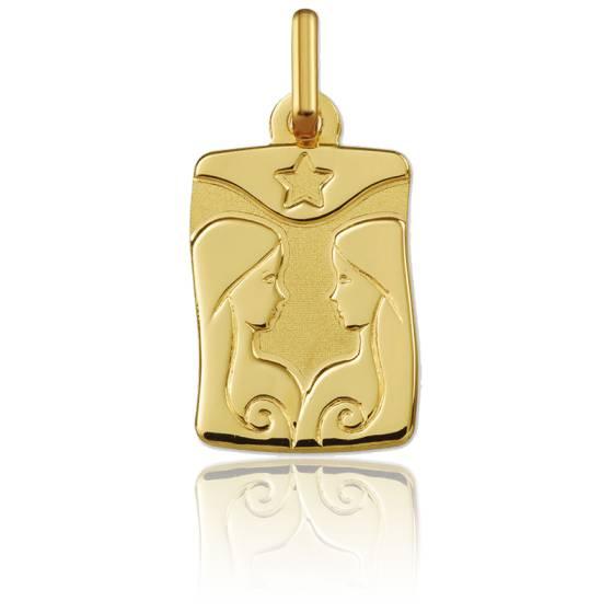 Pendentif zodiaque gémeaux, Or jaune 9K - Argyor