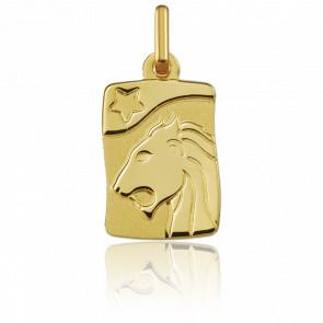 Pendentif zodiaque lion, Or jaune 9K - Argyor