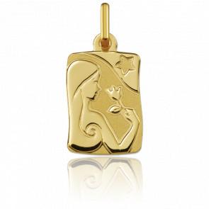 Pendentif zodiaque vierge, Or jaune 9K - Argyor