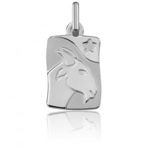 Pendentif zodiaque capricorne, Or blanc 9K - Argyor