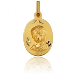 Médaille Vierge Marie, ovale, Or jaune 18K - Argyor