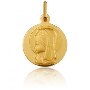 Médaille Vierge Marie de profil, Or jaune 18K - Argyor
