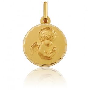 Médaille Ange en prière, 14 mm, Or jaune 18K - Argyor