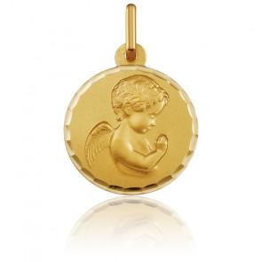 Médaille Ange en prière, 16 mm, Or jaune 18K - Argyor