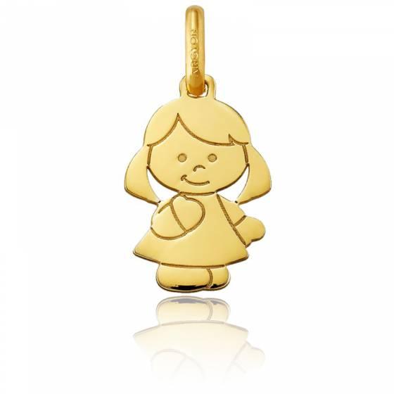 Pendentif petite fille, Or jaune 18 carats - Argyor