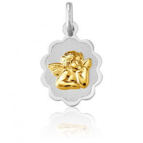 Médaille Ange Raphaël, en relief, 2 Ors 18K - Argyor