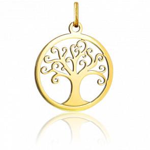Médaille Arbre de Vie ajourée, Or jaune 18K - Argyor