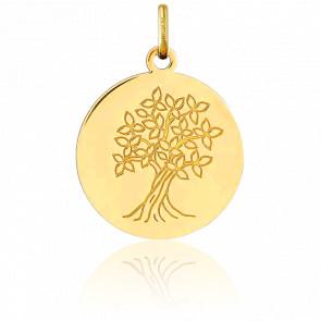 Médaille motif Arbre de Vie, Or jaune 18K - Argyor