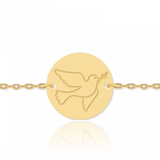Bracelet enfant Colombe, Or jaune 18 carats - Lucas Lucor