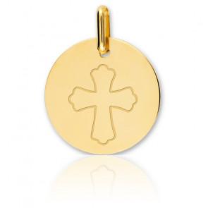 Médaille croix Occitane, Or jaune 18K - Lucas Lucor