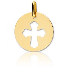 Médaille Croix ajourée, Or jaune 18 carats - Lucas Lucor