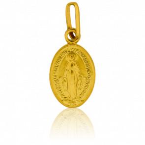 Médaille Vierge Miraculeuse, bord poli, Or jaune 18K - Pichard-Balme