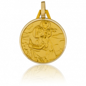 Médaille Saint Christophe, Or jaune 18K - Pichard-Balme