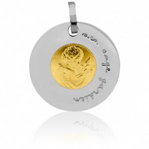 Médaille Ange Gardien à la Colombe, 2 Ors 18K - Pichard-Balme