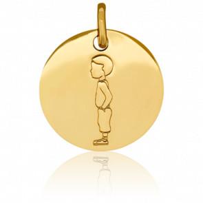 Médaille Mon Petit Chéri, Or jaune 18K - Pichard-Balme