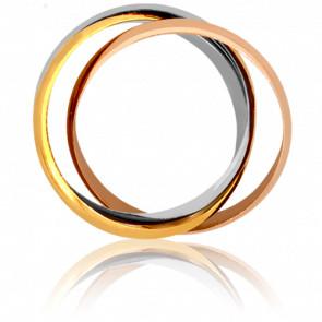 Pendentif 3 anneaux, 3 Ors 18K - Emanessence