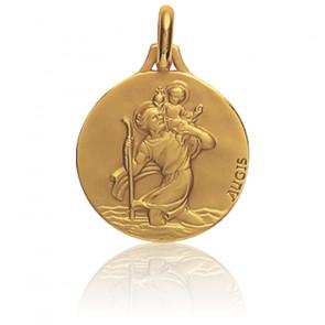 Médaille Saint Christophe de Lycie, Or jaune 18K - Augis