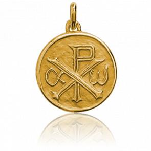 Médaille Chrisme, Or jaune 18K - Augis