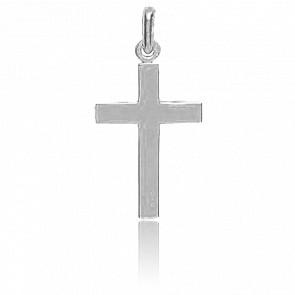 Croix fil carré, Or blanc 18K - Augis