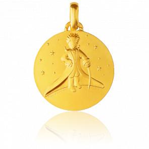 Médaille Petit Prince dans les étoiles, Or jaune 18K - Monnaie de Paris