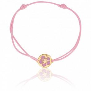 Bracelet cordon Hibiscus, Or jaune 18 carats - Lucas Lucor