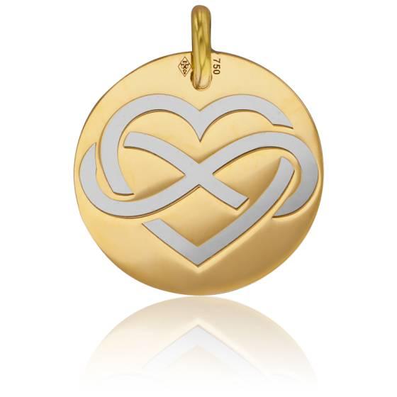 Médaille ronde amour infini, Or jaune 18K - Lucas Lucor