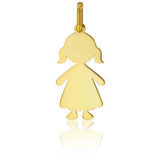 Pendentif petite fille, Or jaune 18K - Lucas Lucor