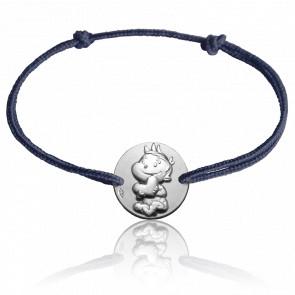 Bracelet cordon Rêveur, Or blanc 9K - La Fée Galipette