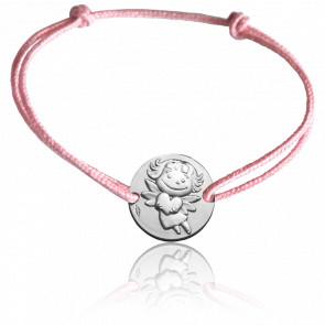 Bracelet cordon Précieuse, Or blanc 9K - La Fée Galipette