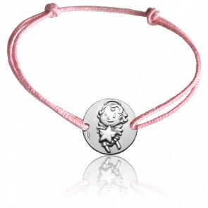 Bracelet cordon Maline, Or blanc 9K - La Fée Galipette