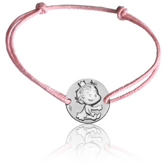 Bracelet cordon Curieuse, Or blanc 9K - La Fée Galipette