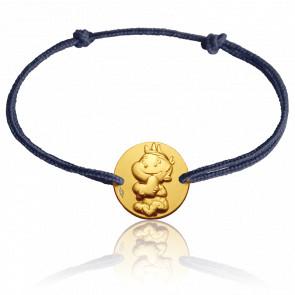 Bracelet cordon Rêveur, Or jaune 9K - La Fée Galipette