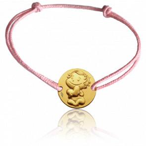 Bracelet cordon Câline, Or jaune 9K - La Fée Galipette
