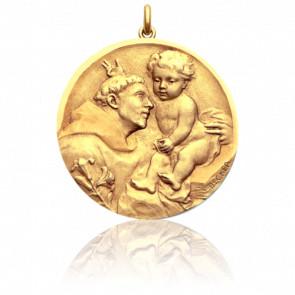 Médaille Saint Antoine de Padoue, Or jaune 18K - Becker