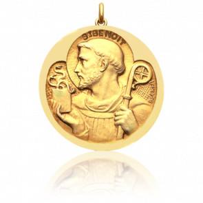 Médaille Saint Benoit, Or Jaune 18K - Becker